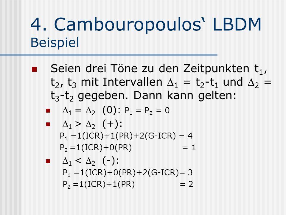 4. Cambouropoulos' LBDM Beispiel
