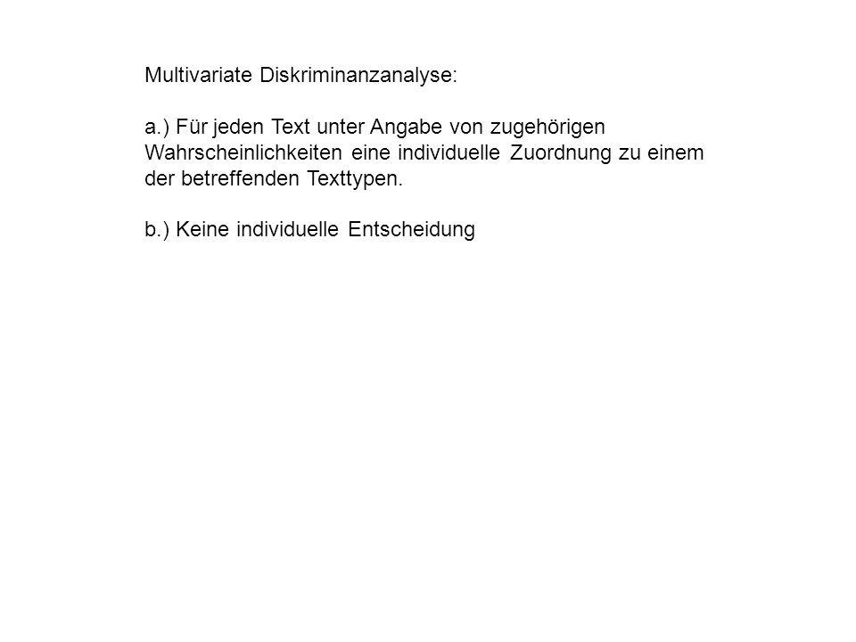 Multivariate Diskriminanzanalyse: