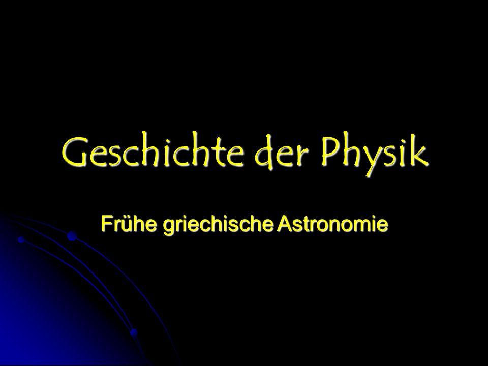 Frühe griechische Astronomie