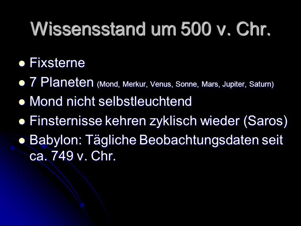 Wissensstand um 500 v. Chr. Fixsterne