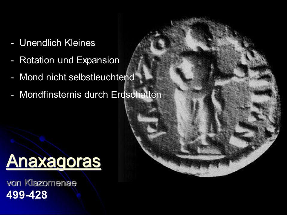 Anaxagoras Unendlich Kleines Rotation und Expansion