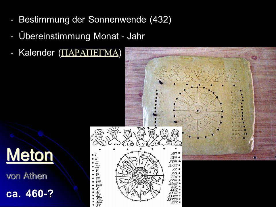 Meton Bestimmung der Sonnenwende (432) Übereinstimmung Monat - Jahr