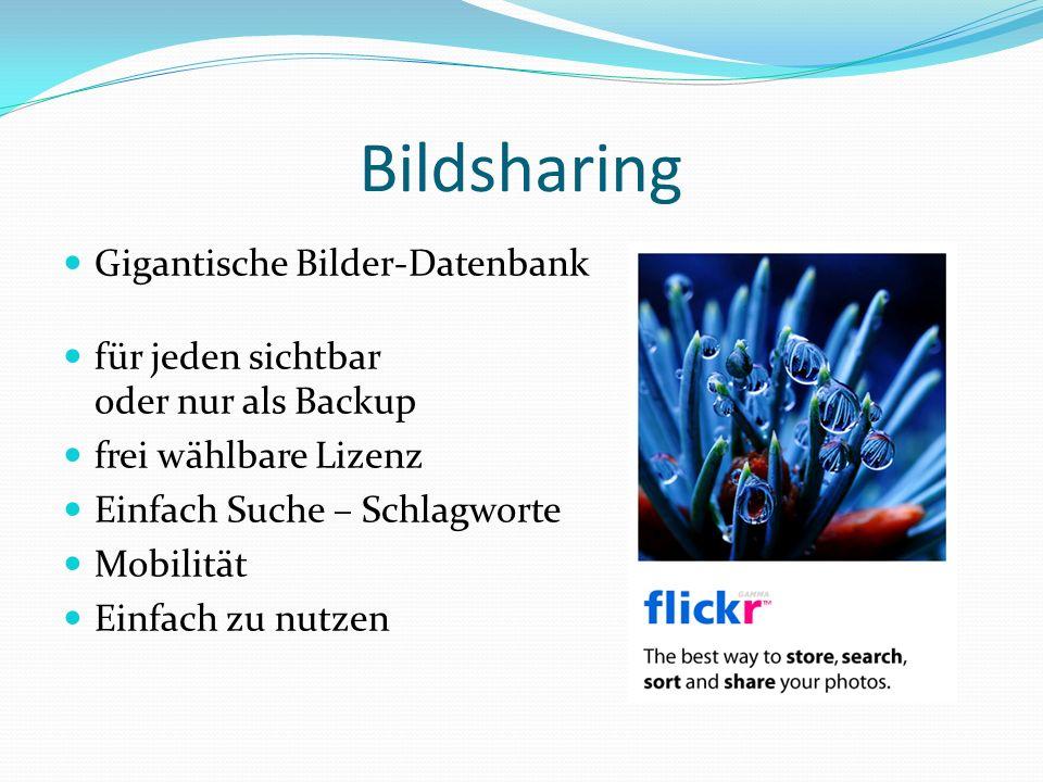 Bildsharing Gigantische Bilder-Datenbank