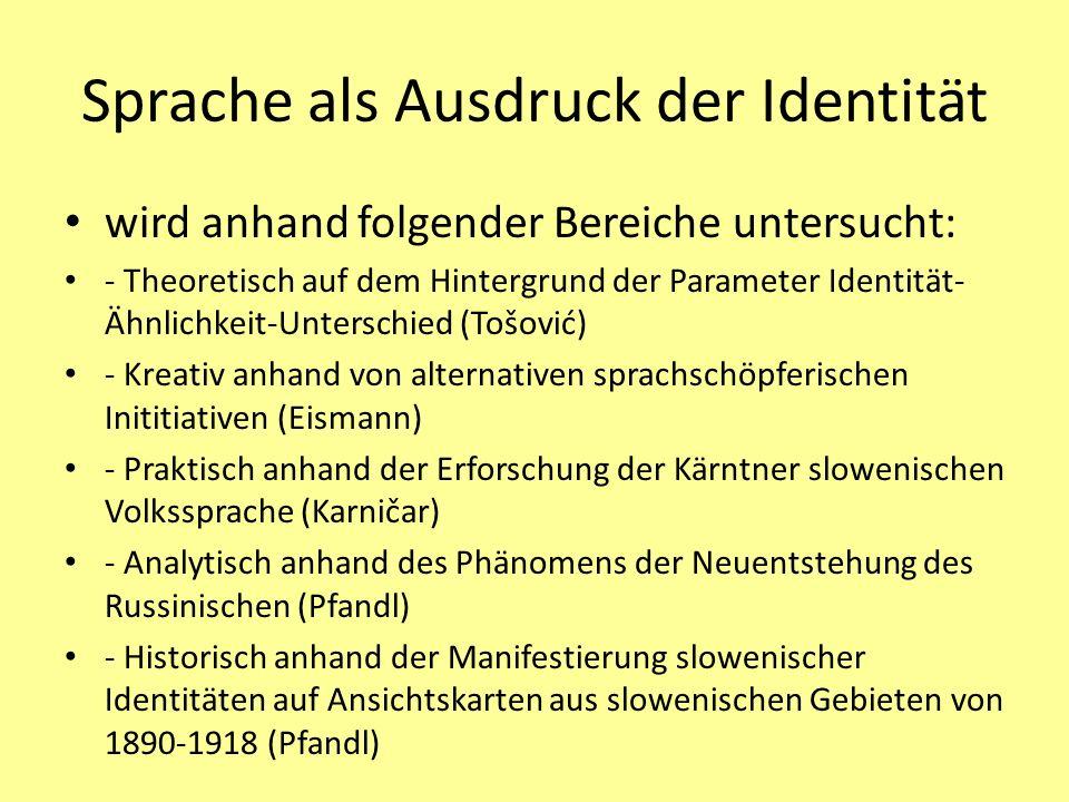 Sprache als Ausdruck der Identität
