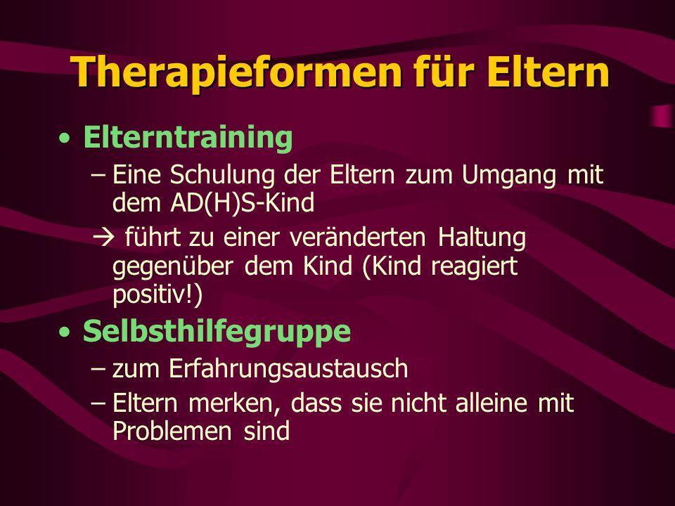 Therapieformen für Eltern