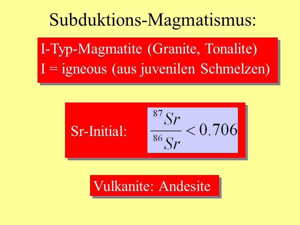 Subduktions-Magmatismus: