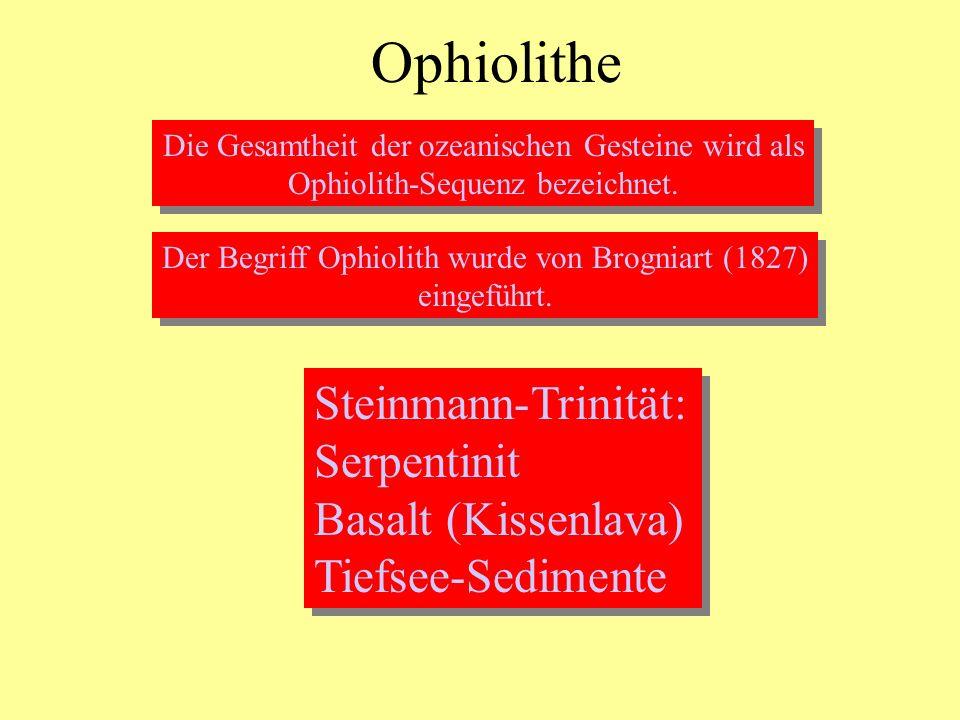 Ophiolithe Steinmann-Trinität: Serpentinit Basalt (Kissenlava)