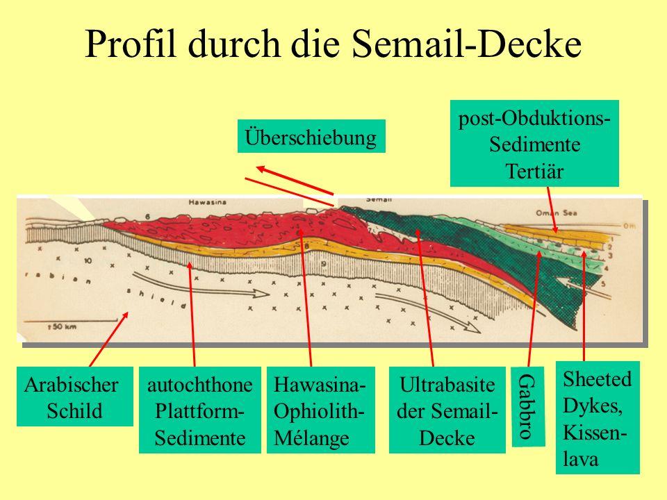 Profil durch die Semail-Decke