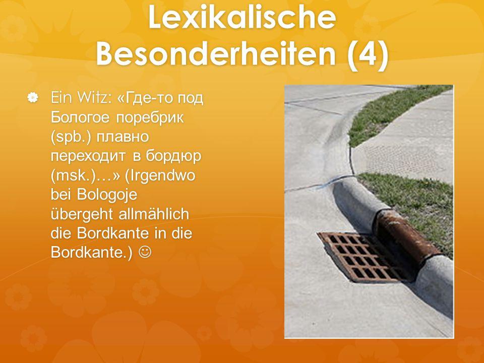 Lexikalische Besonderheiten (4)