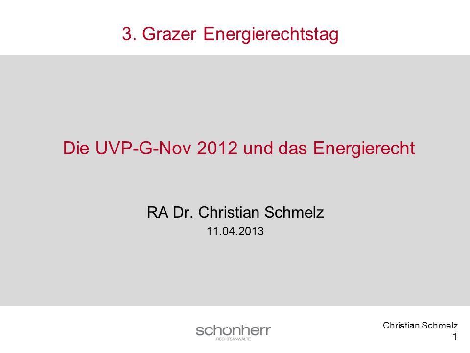 Die UVP-G-Nov 2012 und das Energierecht