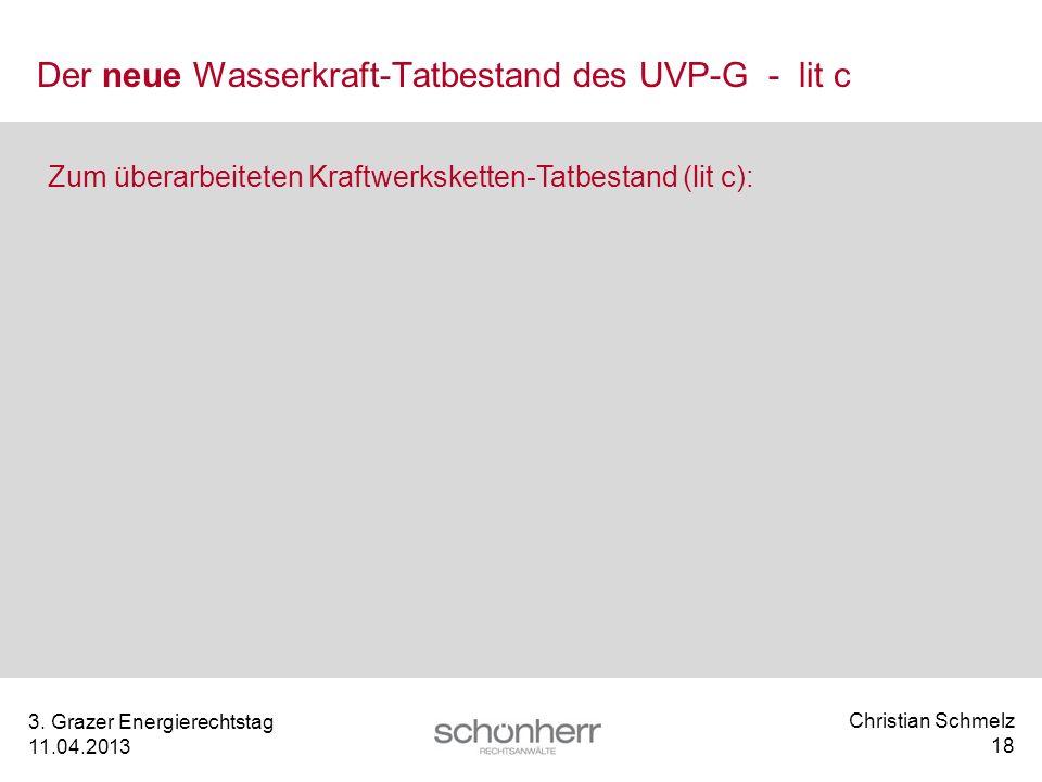 Der neue Wasserkraft-Tatbestand des UVP-G - lit c