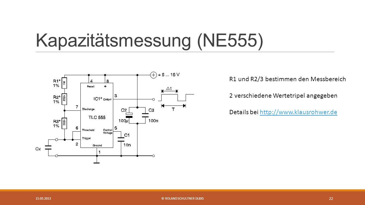 Kapazitätsmessung (NE555)
