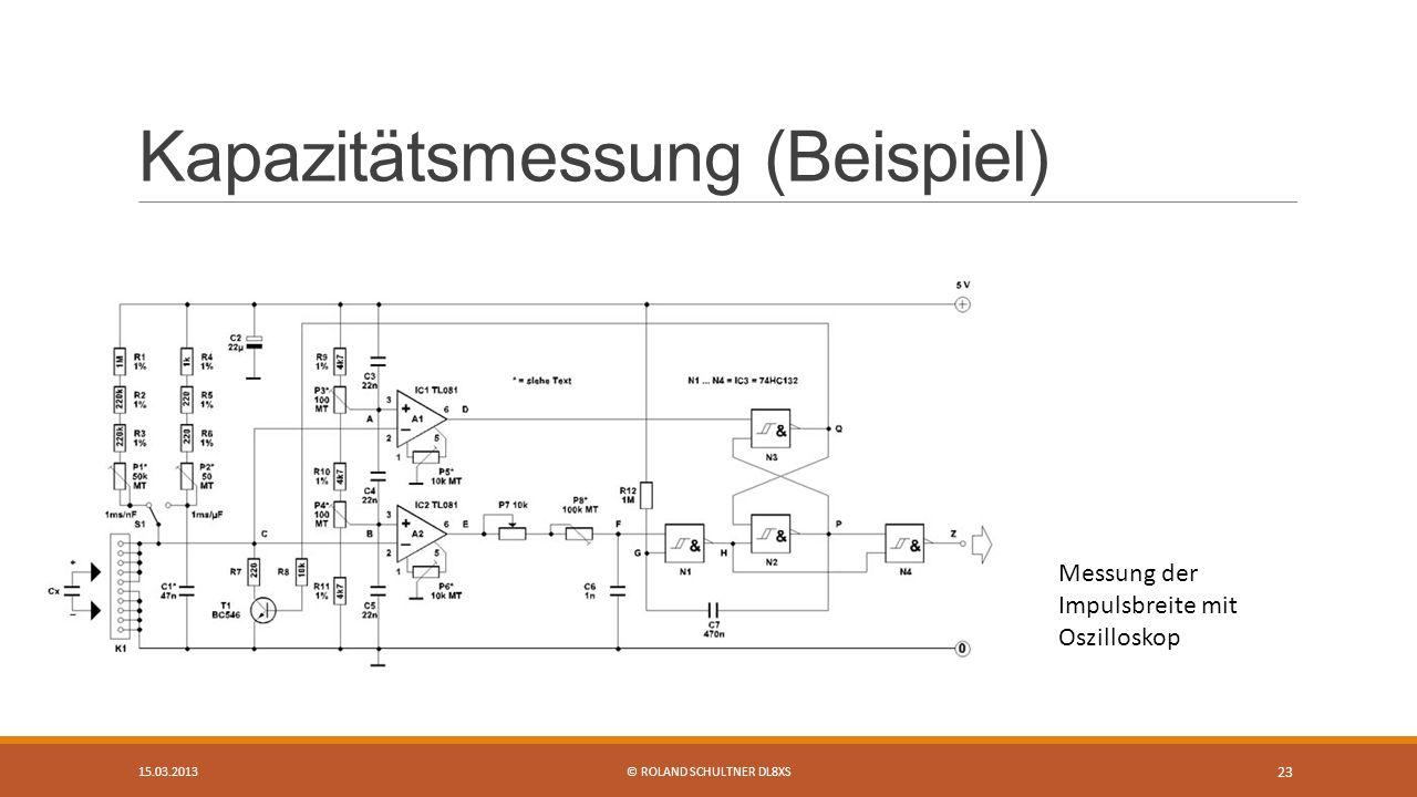 Kapazitätsmessung (Beispiel)