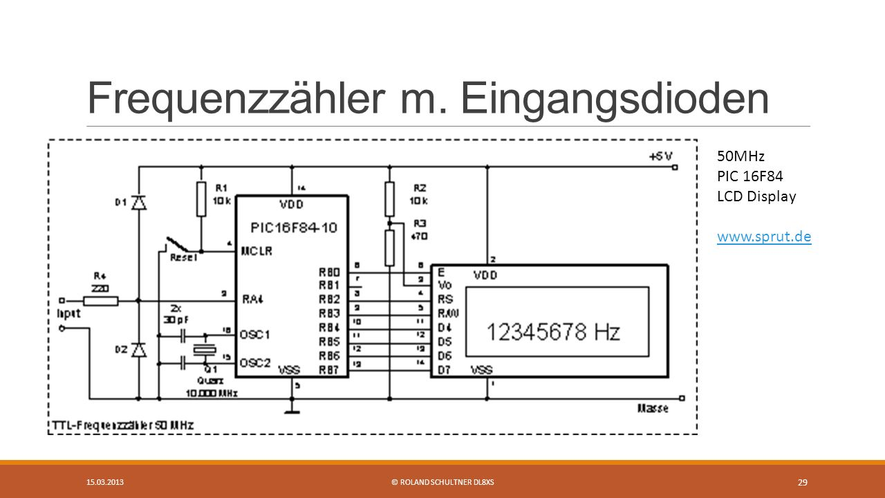 Frequenzzähler m. Eingangsdioden