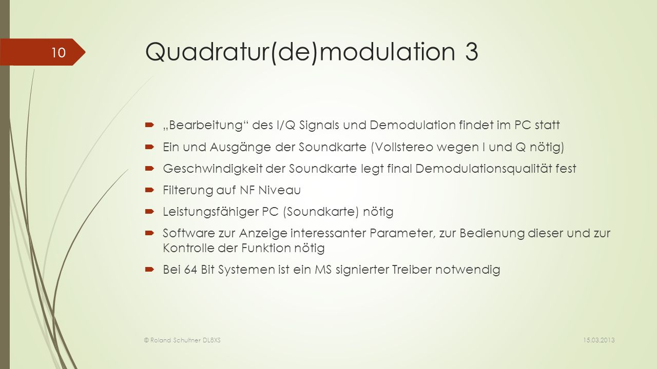 Quadratur(de)modulation 3