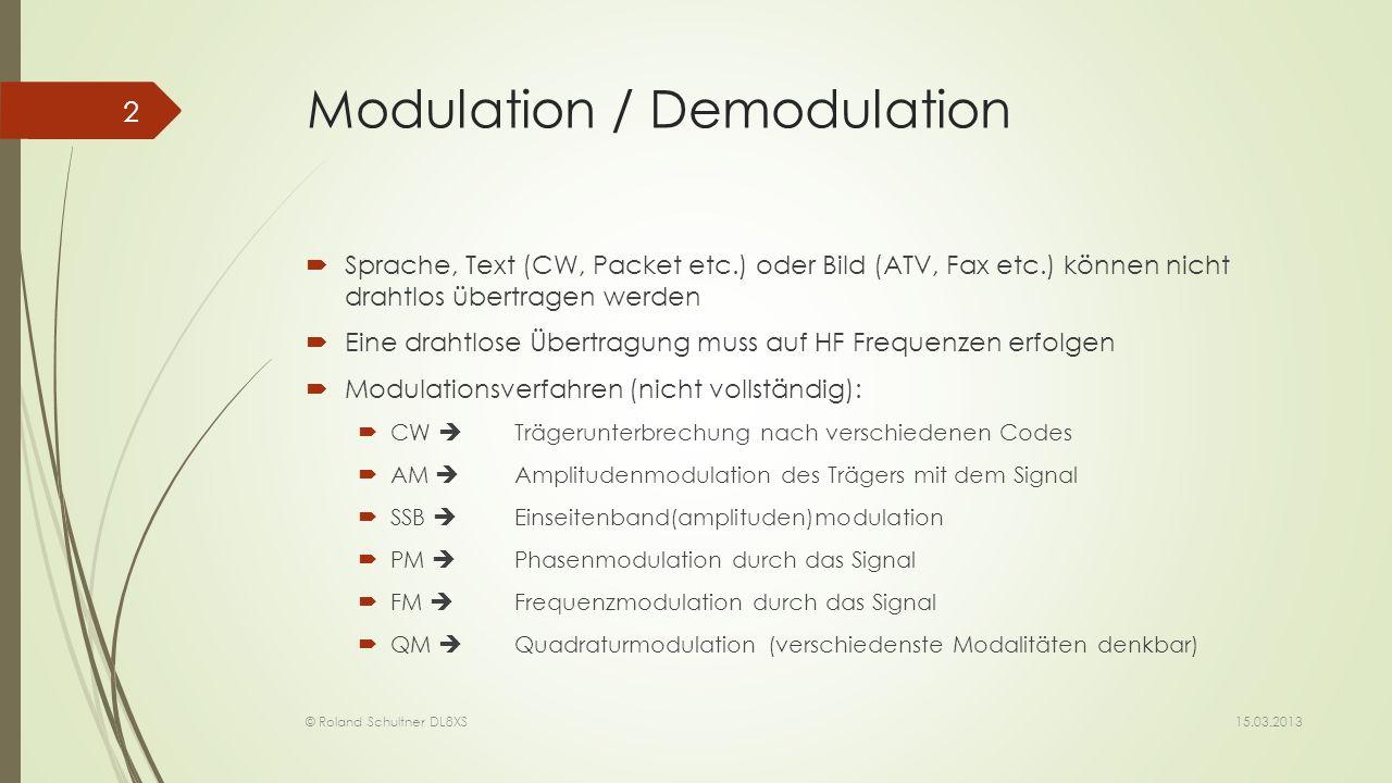 Modulation / Demodulation