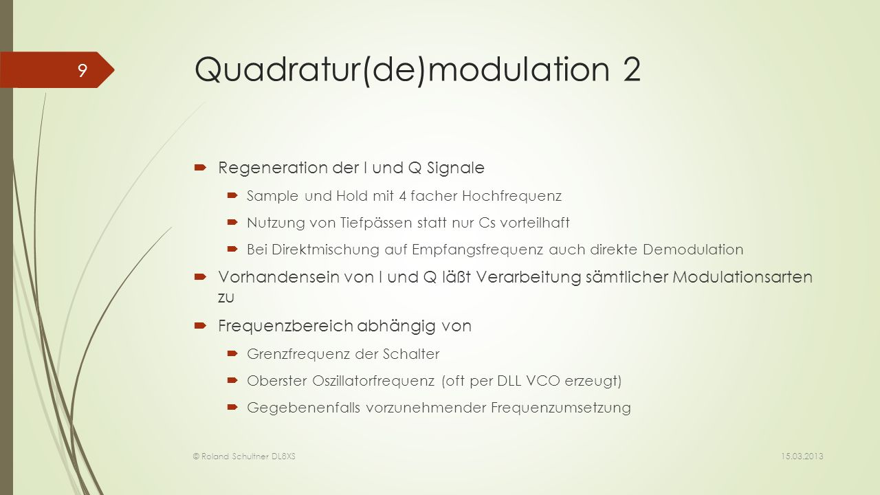 Quadratur(de)modulation 2