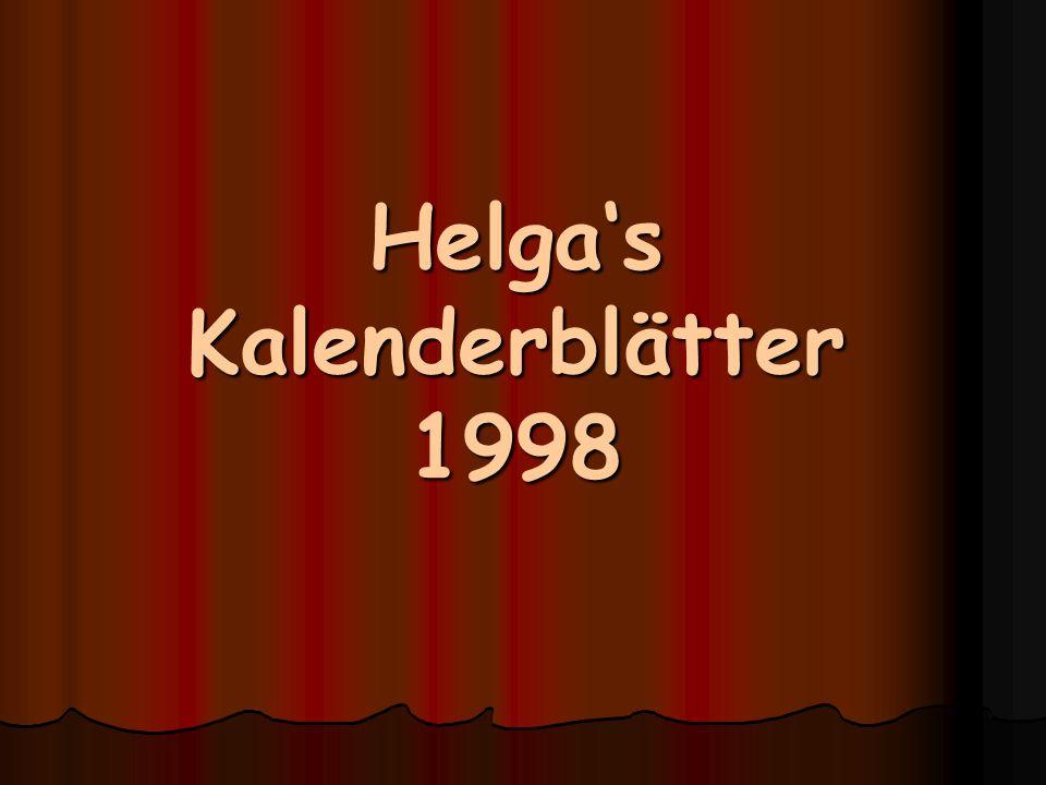 Helga's Kalenderblätter 1998