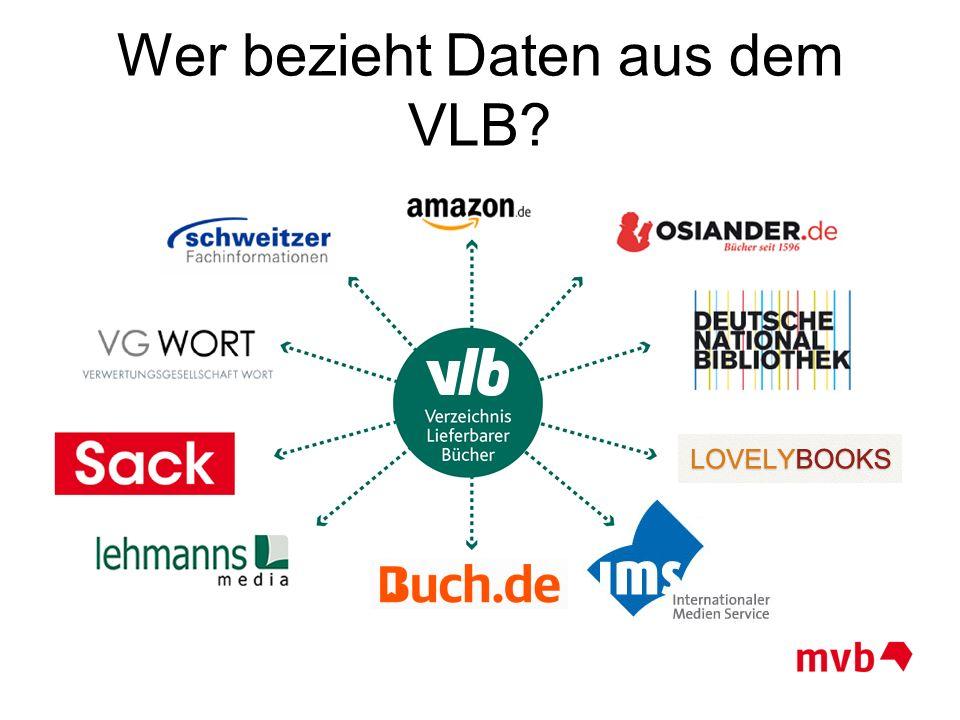 Wer bezieht Daten aus dem VLB