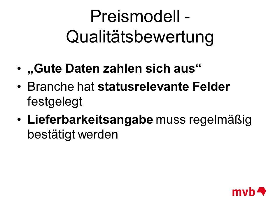 Preismodell - Qualitätsbewertung