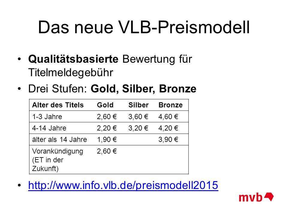 Das neue VLB-Preismodell