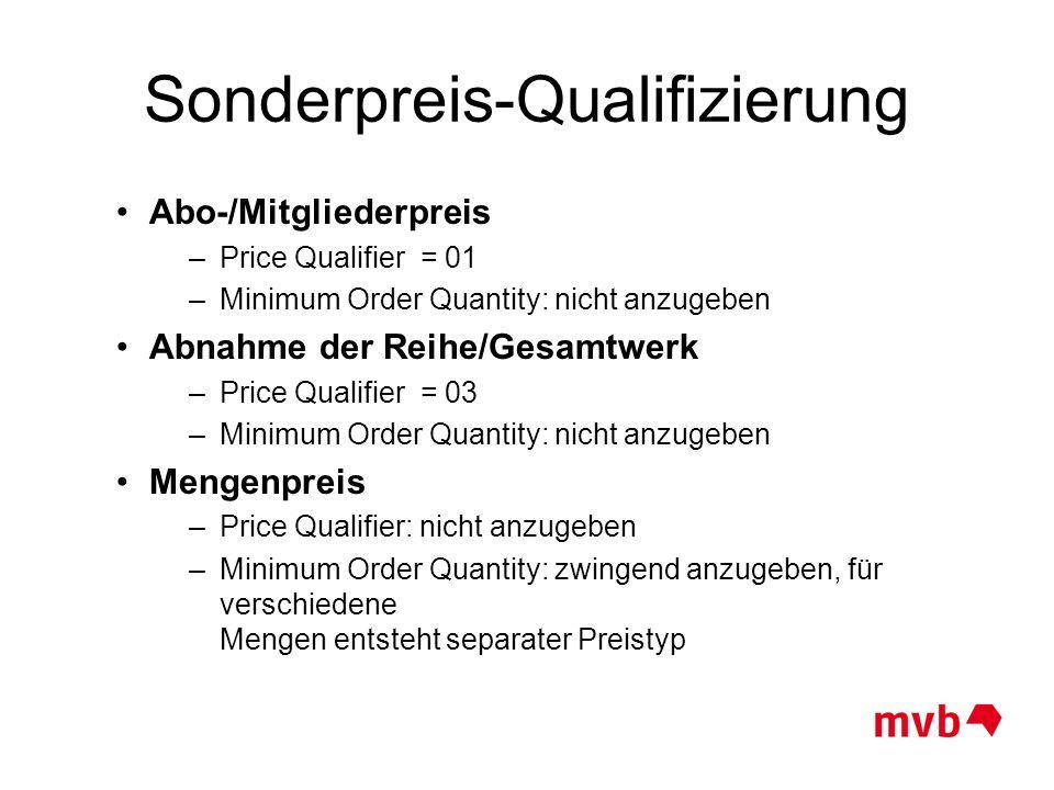 Sonderpreis-Qualifizierung