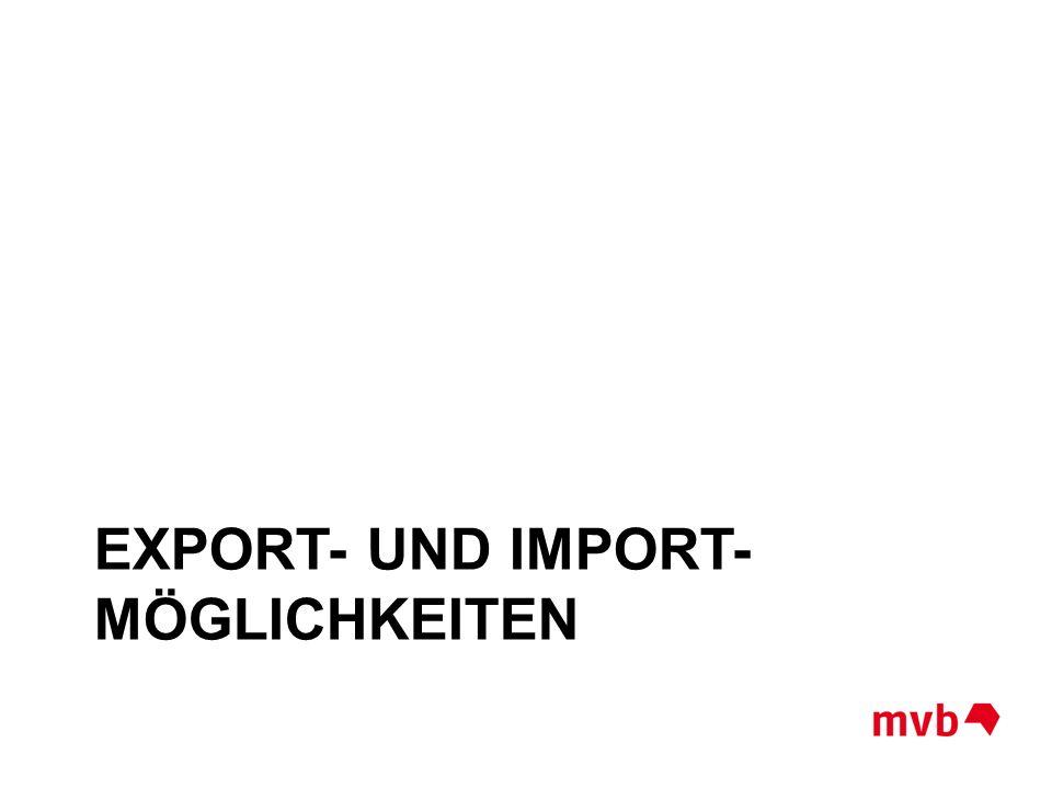 Export- und Import- Möglichkeiten