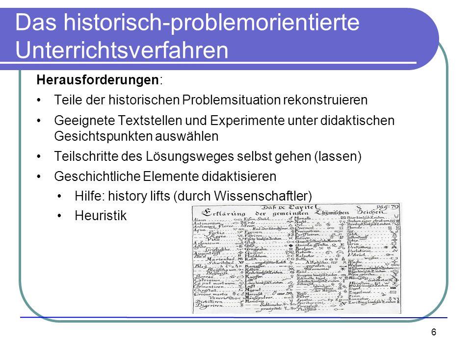 Das historisch-problemorientierte Unterrichtsverfahren