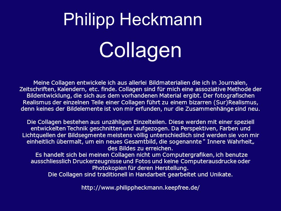 Collagen Philipp Heckmann