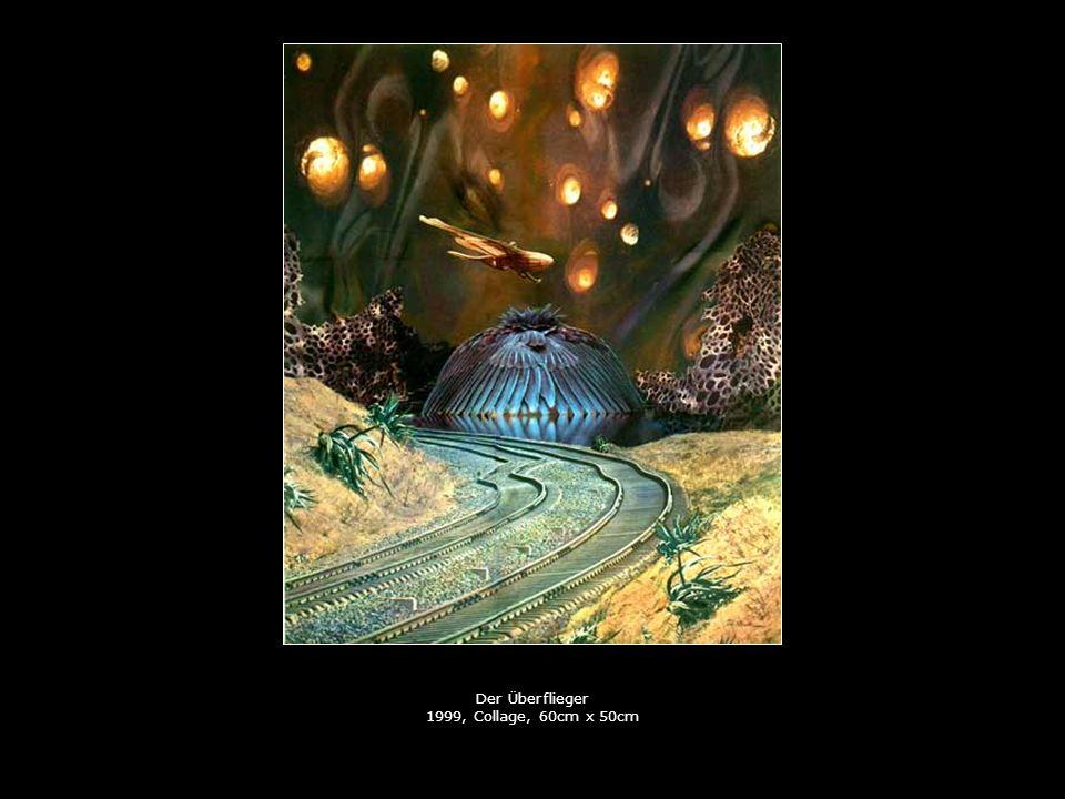 Der Überflieger 1999, Collage, 60cm x 50cm