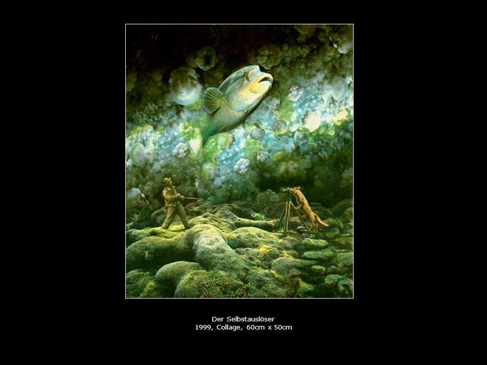 Der Selbstauslöser 1999, Collage, 60cm x 50cm