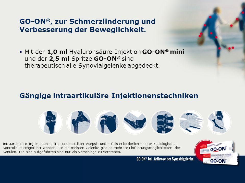 GO-ON®, zur Schmerzlinderung und Verbesserung der Beweglichkeit.
