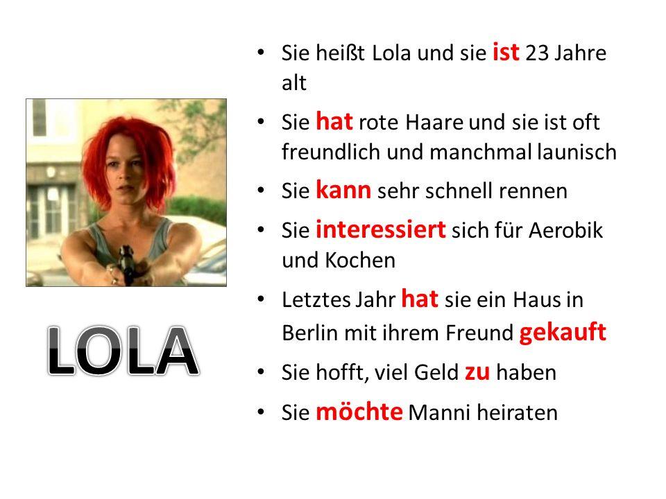 LOLA Sie heißt Lola und sie ist 23 Jahre alt