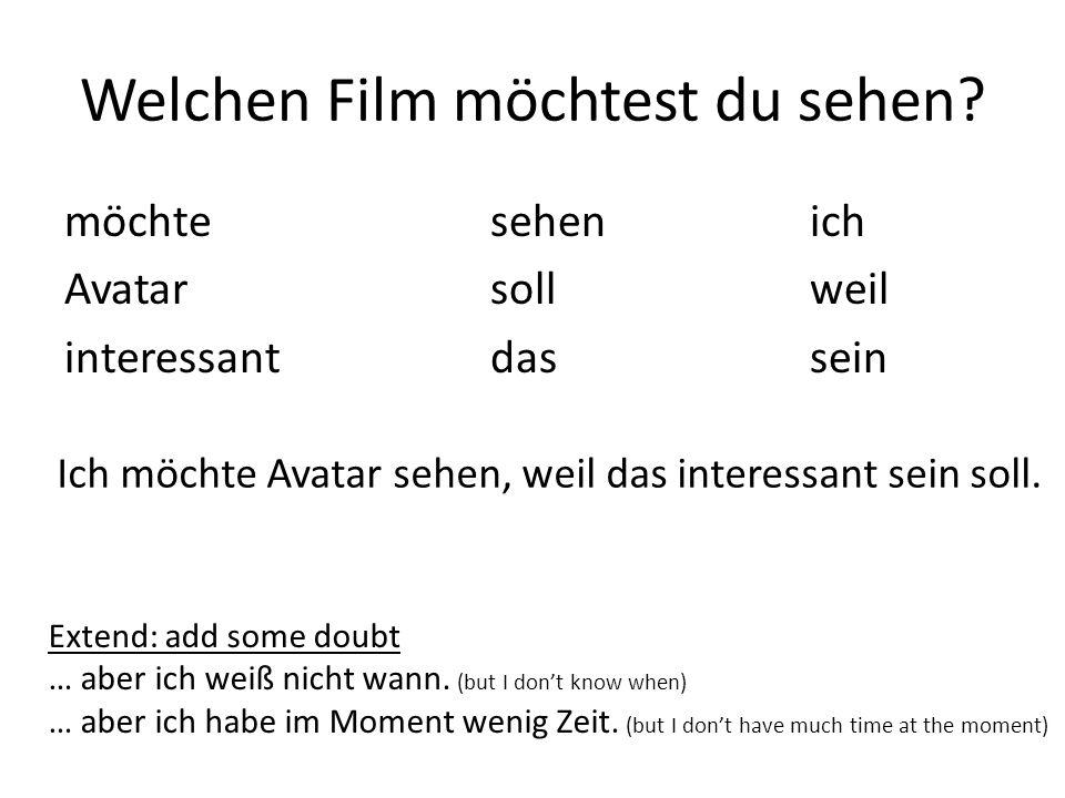 Welchen Film möchtest du sehen