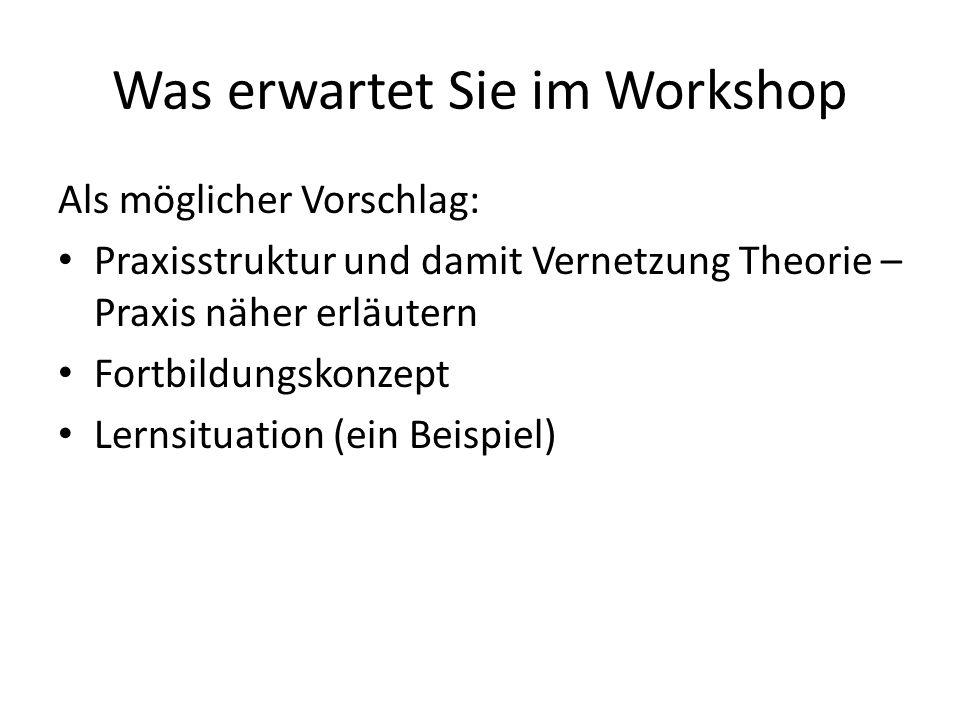 Was erwartet Sie im Workshop