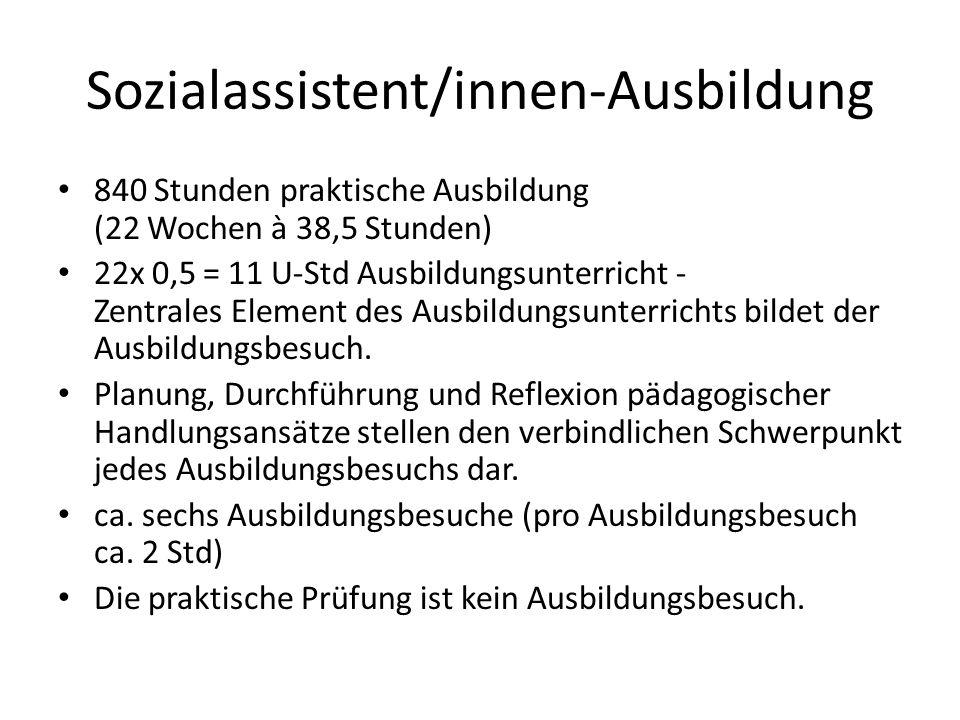 Sozialassistent/innen-Ausbildung