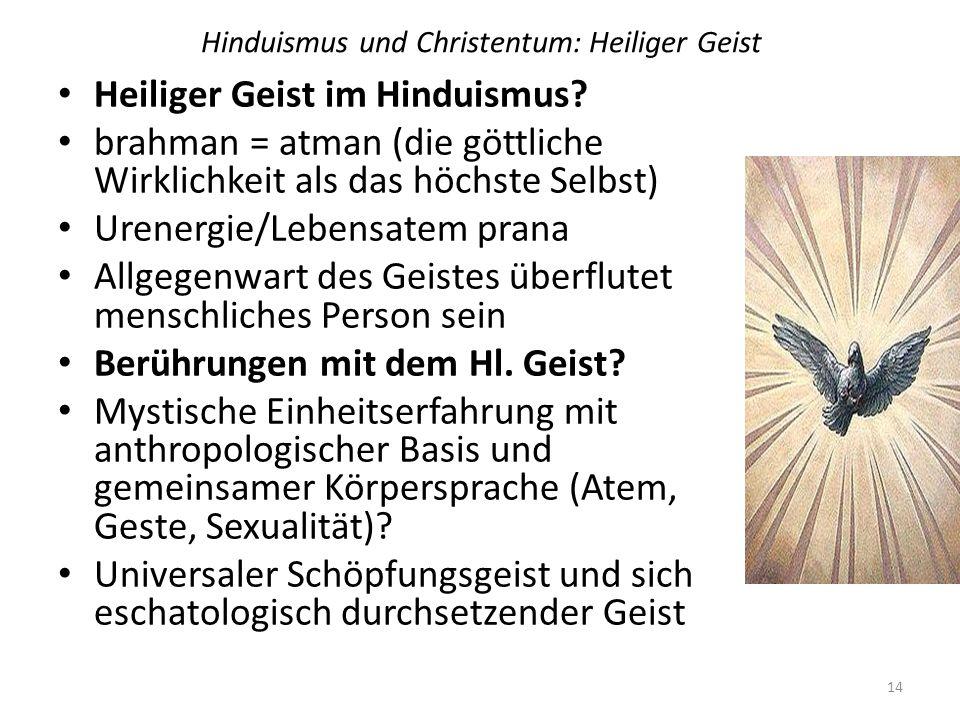 Hinduismus und Christentum: Heiliger Geist