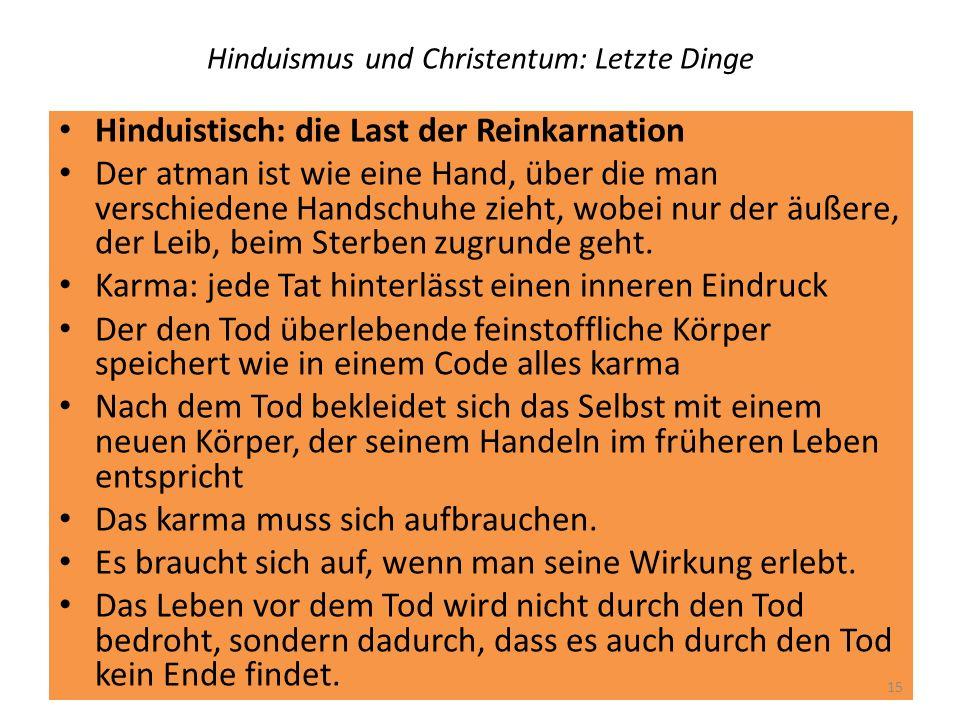 Hinduismus und Christentum: Letzte Dinge