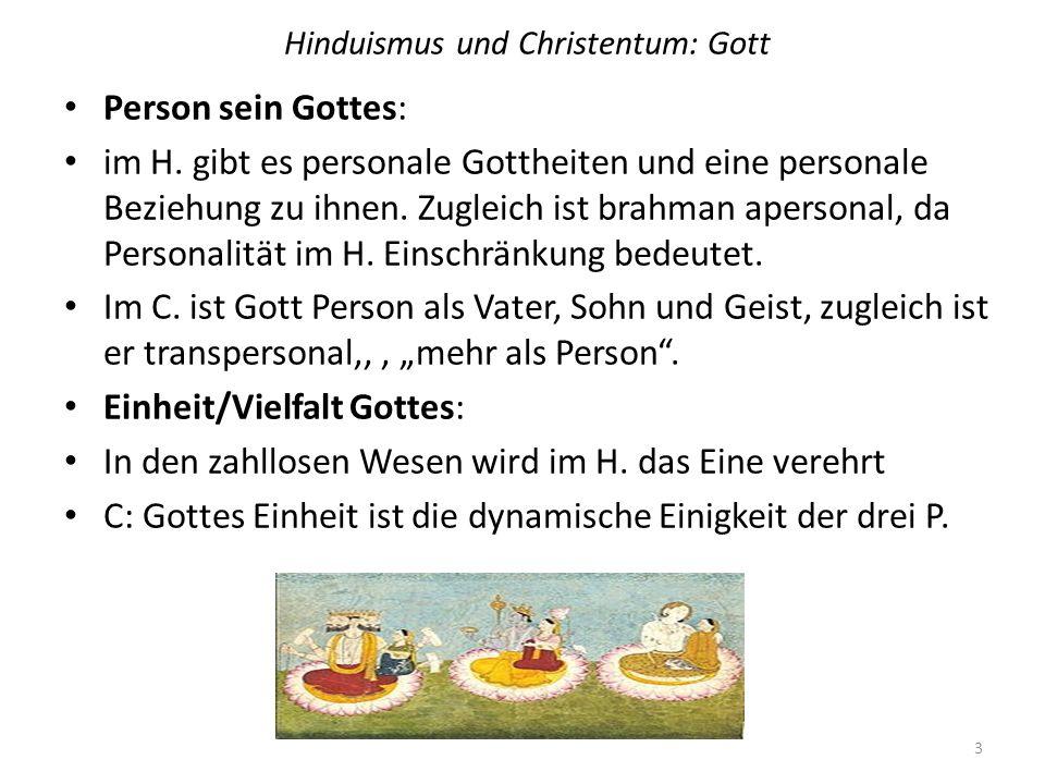 Hinduismus und Christentum: Gott