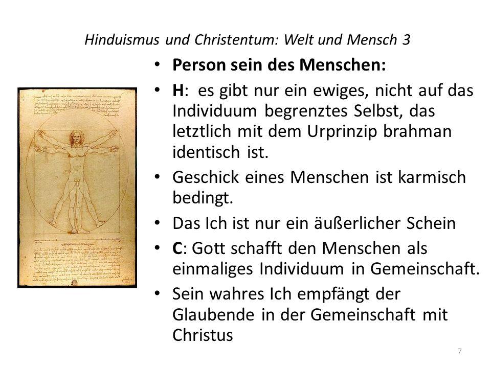 Hinduismus und Christentum: Welt und Mensch 3