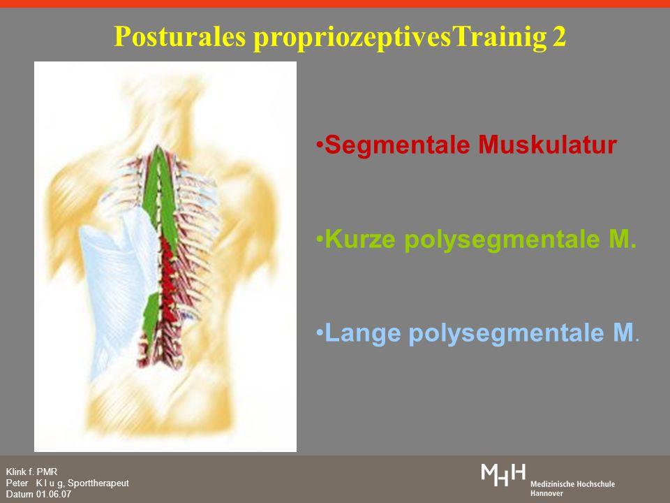 Posturales propriozeptivesTrainig 2
