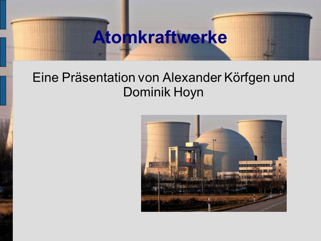 Eine Präsentation von Alexander Körfgen und Dominik Hoyn