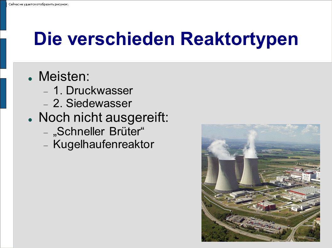 Die verschieden Reaktortypen