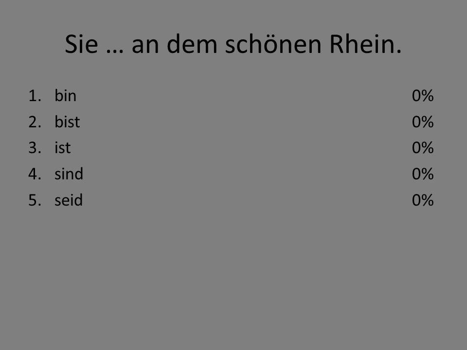 Sie … an dem schönen Rhein.