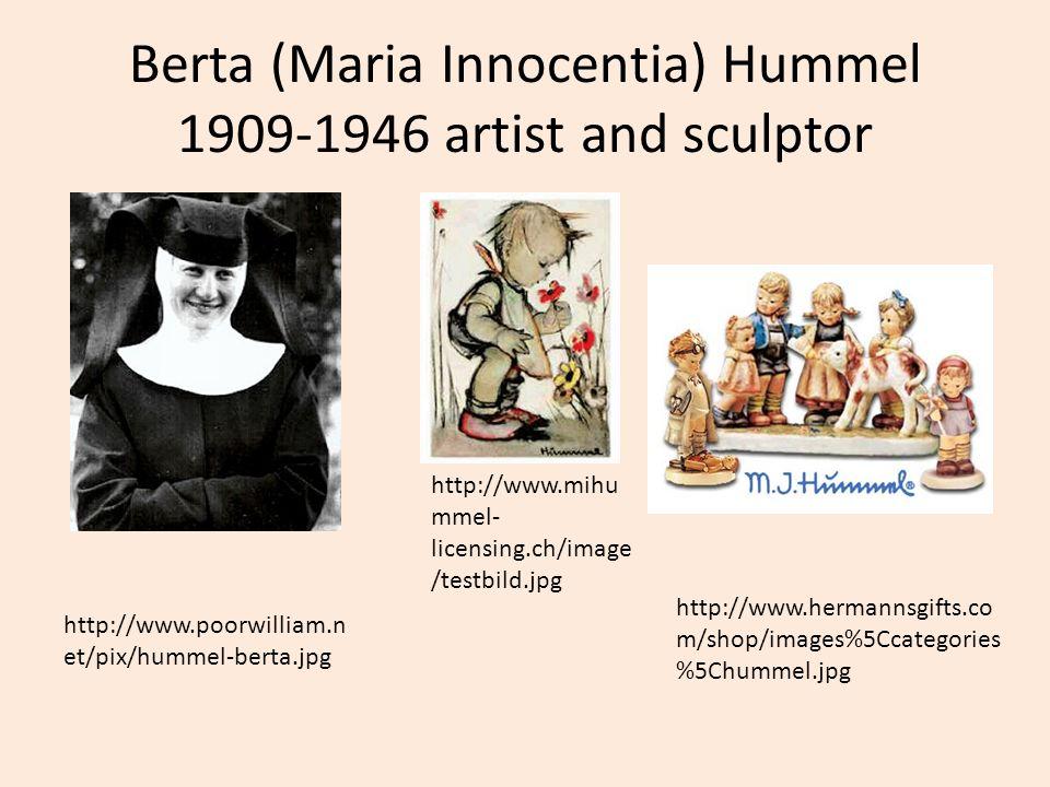 Berta (Maria Innocentia) Hummel 1909-1946 artist and sculptor