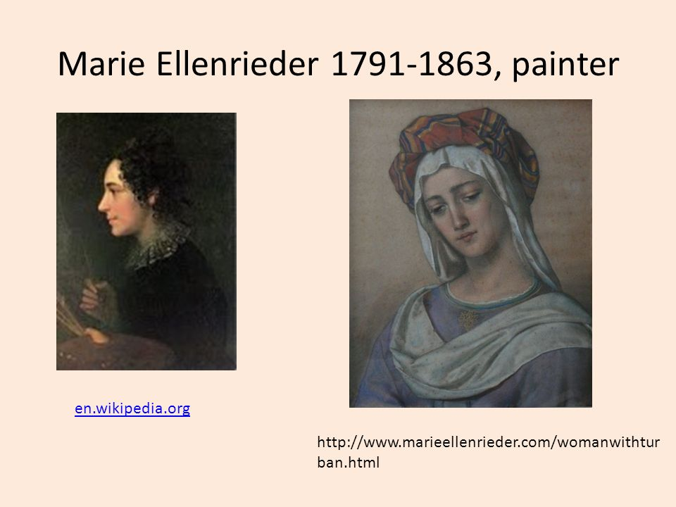 Marie Ellenrieder 1791-1863, painter