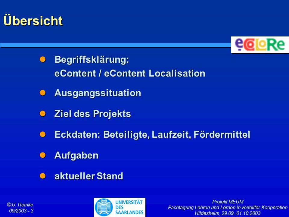 Übersicht Begriffsklärung: eContent / eContent Localisation