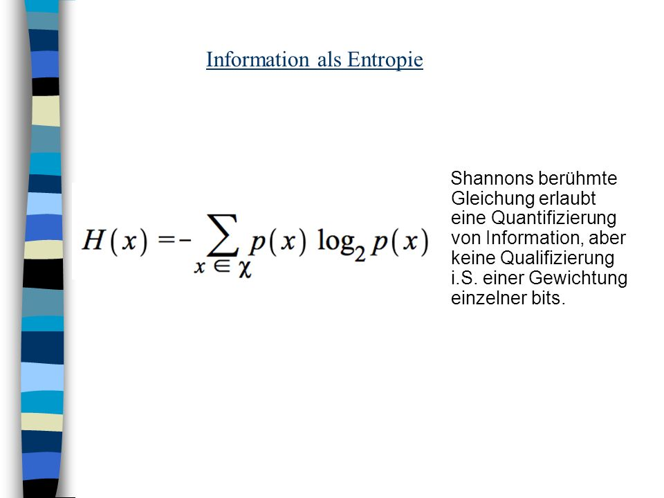 Information als Entropie