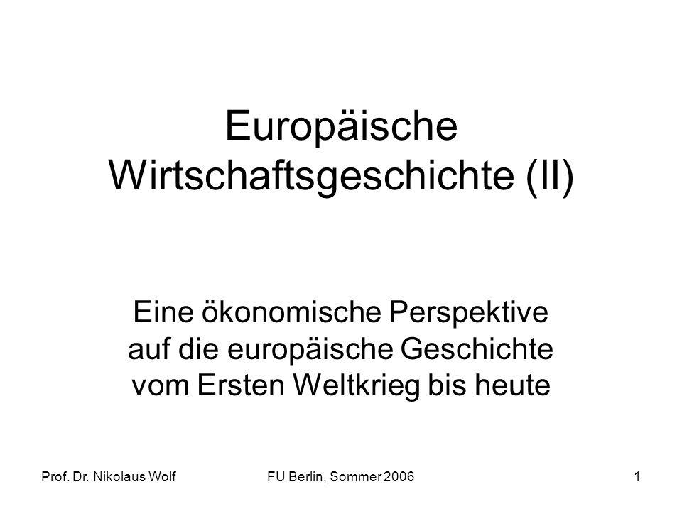 Europäische Wirtschaftsgeschichte (II)
