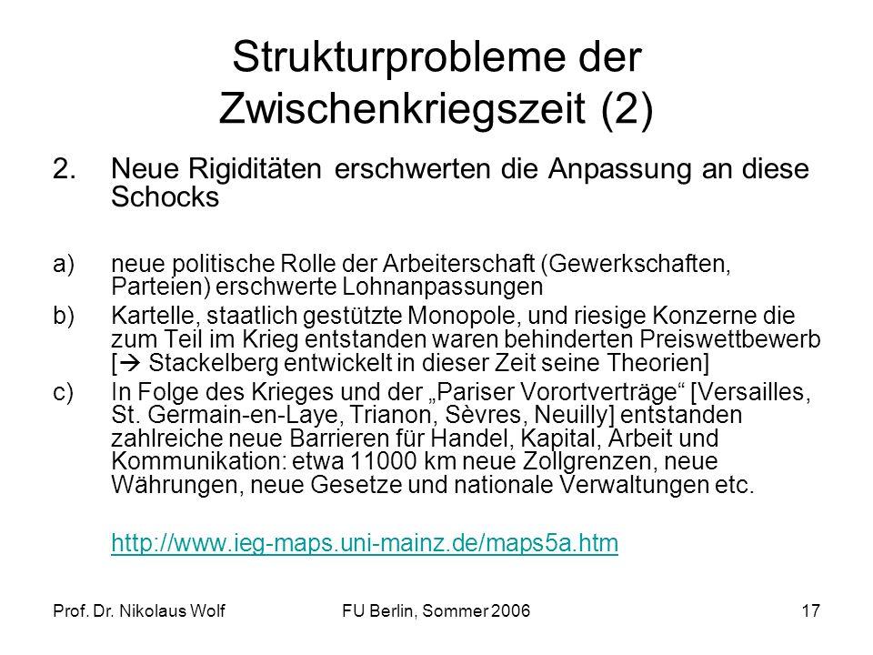 Strukturprobleme der Zwischenkriegszeit (2)